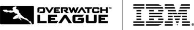 IBM and the Overwatch League logos (PRNewsFoto/IBM)