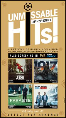 PVR Presents Unmissable Hits Film Festival