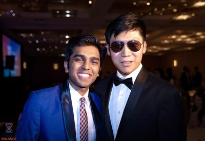 Co-Presidents of HPAIR Mr. Zeel Patel (left, aged 20) and Mr. Eric Lin (right, aged 20) pictured at the Harvard College conference closing ceremonies in February of 2020.