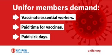 New third-wave restrictions highlight urgent need to vaccinate all essential workers now