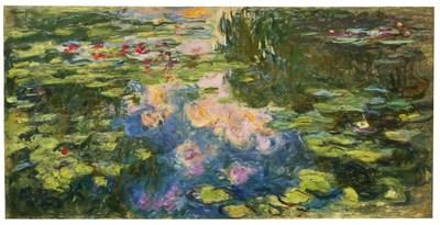 Monet's Le Bassin aux nymphéas (1917-19) fetched $70.4 million at Sotheby's on 12 May 2021 (PRNewsfoto/Artmarket.com)
