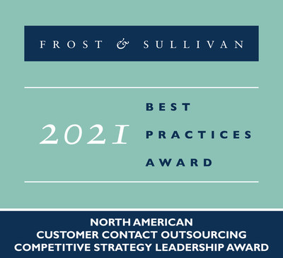Teleperformance Award - Teleperformance Recognized by Frost & Sullivan as the 2021 North American BPO Competitive Strategy Innovation Leader