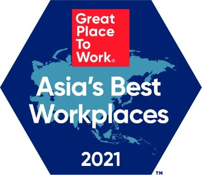 Great Place to Work(R) Announces the Best Workplaces in Asia(TM) 2021  Representing +3.3 Million Employee Experiences