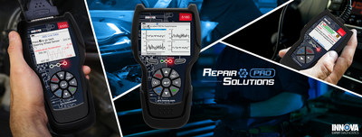 Innova Electronics, Corporation launches its new INNOVA CarScan® line of professional on-board diagnostic (OBD) tools designed by professional automotive technicians to help techs of all levels streamline repairs on today's vehicles. Also now featuring RepairSolutions® Pro online and app-based diagnostic guidance. For more information, visit http://pro.innova.com/.