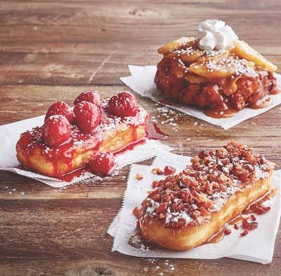 IHOP unveils new French Toasted Donuts in three craveable flavors, Bacon & Maple, Strawberries & Cream and Apple Fritter.