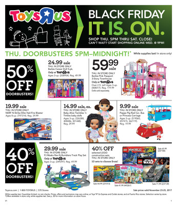 ToysRUs Reveals Its Black Friday Playbook Deals