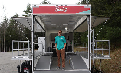Zippity founder, Ed Warren, and the Zippity mobile service trailer.