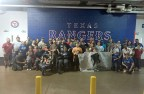 Veterans and their families recently toured the Globe Life Park with the Texas Rangers and Wounded Warrior Project.