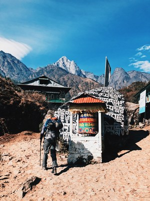 The trek to Everest Base Camp is a fitness challenge especially when taking your own equipment. (Going without porters) (CNW Group/The Adventure Faktory)