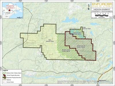 Enforcer Gold Montalembert Property Expansion (CNW Group/Enforcer Gold)