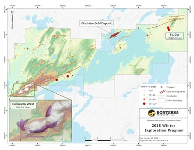 2018 Winter Exploration Program (CNW Group/Bonterra Resources Inc.)