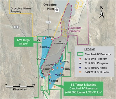 Figure 1: Location of CAU17 and other Cauchari drill holes (CNW Group/Advantage Lithium Corp)