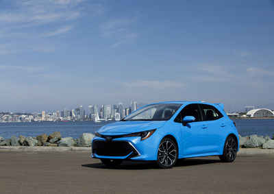 Toyota's newest, stylish, and most technologically-advanced small car, the all-new 2019 Corolla Hatchback, takes to the streets on the coast of San Diego County.