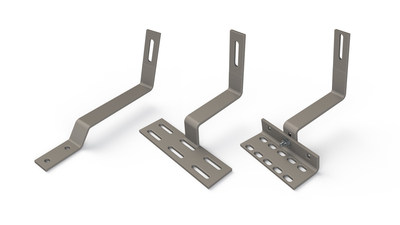 Tile roof attachments manufactured by SolarHooks. SolarHooks' product lines were acquired by Unirac, Inc., North America's leading manufacturer of solar photovoltaic mounting systems.