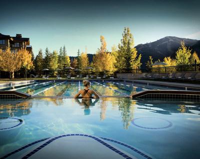 Autumn at Zenergy's pool in Sun Valley, Idaho