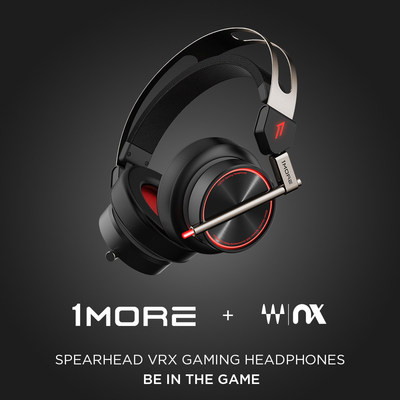 1MORE Spearhead VRX Gaming Headphones Featuring Waves Nx® Head Tracking Technology