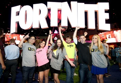 Fortnite fans among 15,000 gamers who attended the E3 Video Game Conference which closes today in Los Angeles. Los Angles, June 14, 2018.