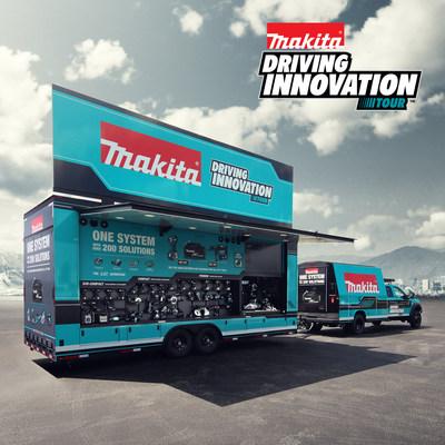 Makita sale a la carretera con la Driving Innovation Tour, una nueva flota de vehículos a medida que viaja por los Estados Unidos y trae a los usuarios de herramientas una demostración de herramientas sobre ruedas. (PRNewsfoto/Makita)