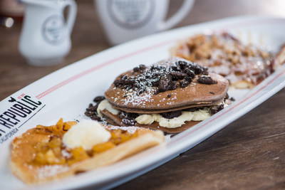 Pancake Flight featuring Oreo Cookie Pancakes