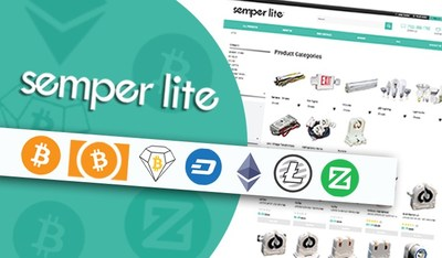 Semperlite's online store will now be accepting payments in six different cryptocurrencies, powered by Chimpion. Supported cryptocurrencies include Bitcoin Diamond (BCD), Bitcoin Cash (BCH), Bitcoin (BTC), Dash, Ethereum (ETH), Litecoin (LTC), and Zcoin (XZC).