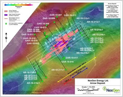 Figure 1: Arrow Deposit Drilling Locations (CNW Group/NexGen Energy Ltd.)