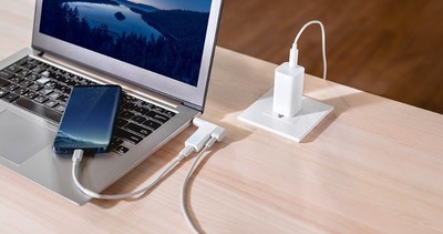 Innergie 18W USB-C Charging Connector-works with its universal laptop adapters to give you a convenient way to extended capabilities of an extra USB-C charging port