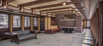 Frank Lloyd Wright Trust Concludes Interior Restoration Of The | Frank Lloyd Wright Stairs | Exterior | Farmhouse | Gordon Strong | Bedroom | Wife