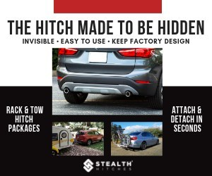 Well-designed, secure and easy to operate, Stealth's BMW hidden hitch is equipped with an integral locking system and auto-latching technology that - eliminates the need for tools, - attaches and detaches in seconds, - provides a rust-free application, and - is completely hidden when not in use.