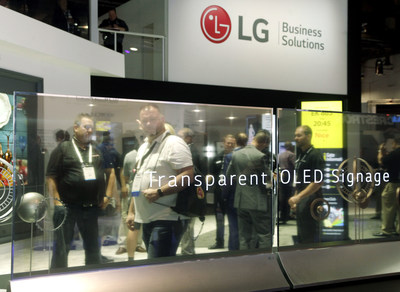 LG Business Solutions will officially launch the highly anticipated LG Transparent OLED digital signage display in the United States this week at InfoComm 2019.