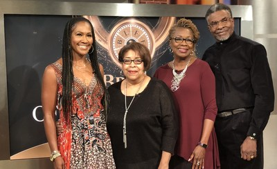 2019 BronzeLens Film Festival official selections announced (L-R) Terri J. Vaughn (Host/Director/Actor), Deidre McDonald (Artistic Director/BronzeLens), Kathleen Bertrand (Executive Producer/BronzeLens), Keith David (Host/Actor/Singer)