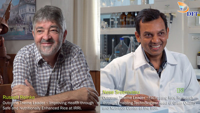 Russell Reinke, Outcome Theme Leader - Improving Health through Safe and Nutritionally Enhanced Rice at the International Rice Research Institute (IRRI) and Nese Sreenivasulu, Outcome Theme Leader - Facilitating Rice Research through Enabling Technologies; Head of Grain Quality and Nutrition Center at the IRRI
