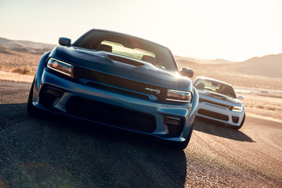 Dodge//SRT is literally expanding its high-performance Charger models for 2020, adding a Widebody Package to America's only four-door muscle car. The Widebody Package, standard on Charger SRT Hellcat and available on Charger Scat Pack, includes new integrated fender flares that add 3.5 inches of body width, creating an even more aggressive, planted stance, and making room for the wider wheels and tires, to deliver improved performance on the street, strip and road course.