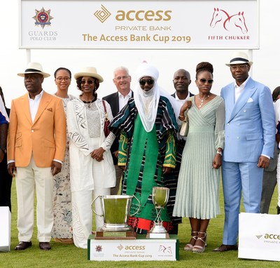 Herbert Wigwe Chairman The Access Bank UK; Mrs Ogbonna; Mrs Doreen Wigwe; Jamie Simmonds Chief Exec The Access Bank UK; His Highness Muhammadu Sanusi II, the Emir of Kano; Roosevelt Ogbonna – deputy Managing Director Access Bank plc; Mrs Ofovwe Aig-Imoukhuede; Mr Aigboje Aig- Imoukhuede – pioneer MD Access Bank plc