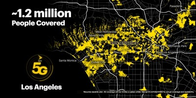 Sprint's on-the-go customers can now experience the power and performance of True Mobile 5G across Los Angeles.