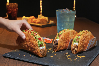 The beloved Taco Bell® chalupa that fans know and love is getting a next-level cheesy glow up. Introducing the Toasted Cheddar Chalupa -- confirmed for nationwide release September 12. The Toasted Cheddar Chalupa presents brilliantly simplistic shell innovation by baking real, aged cheddar cheese onto the shell.