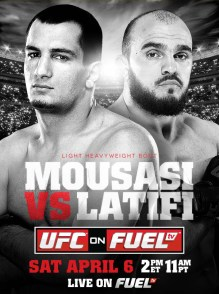 Pôster do UFC On FUEL TV: Mousasi vs Latifi