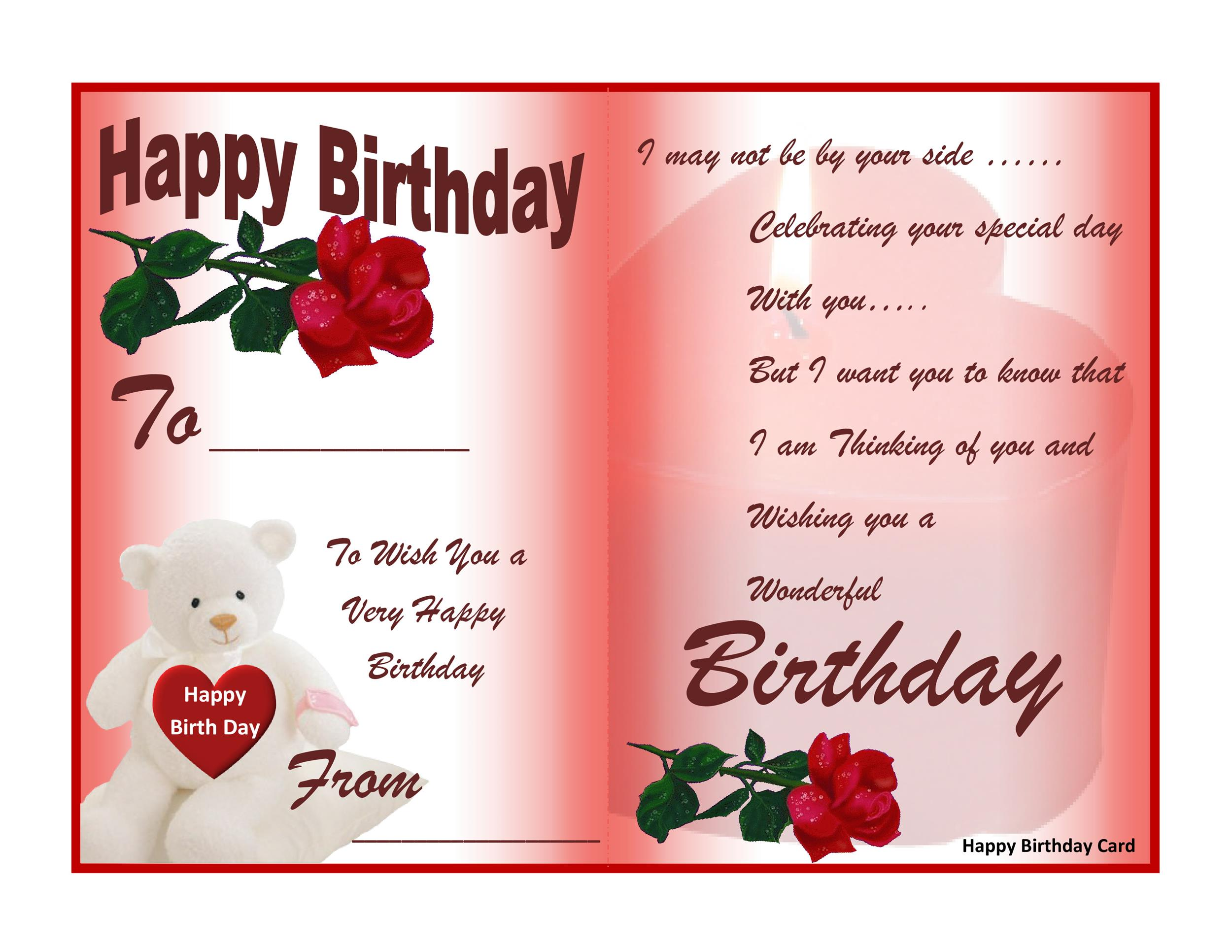 Free Download Birthday Wishes Card