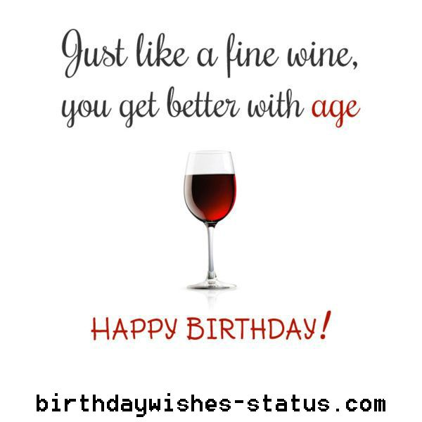 Birthday Wishes With Wine