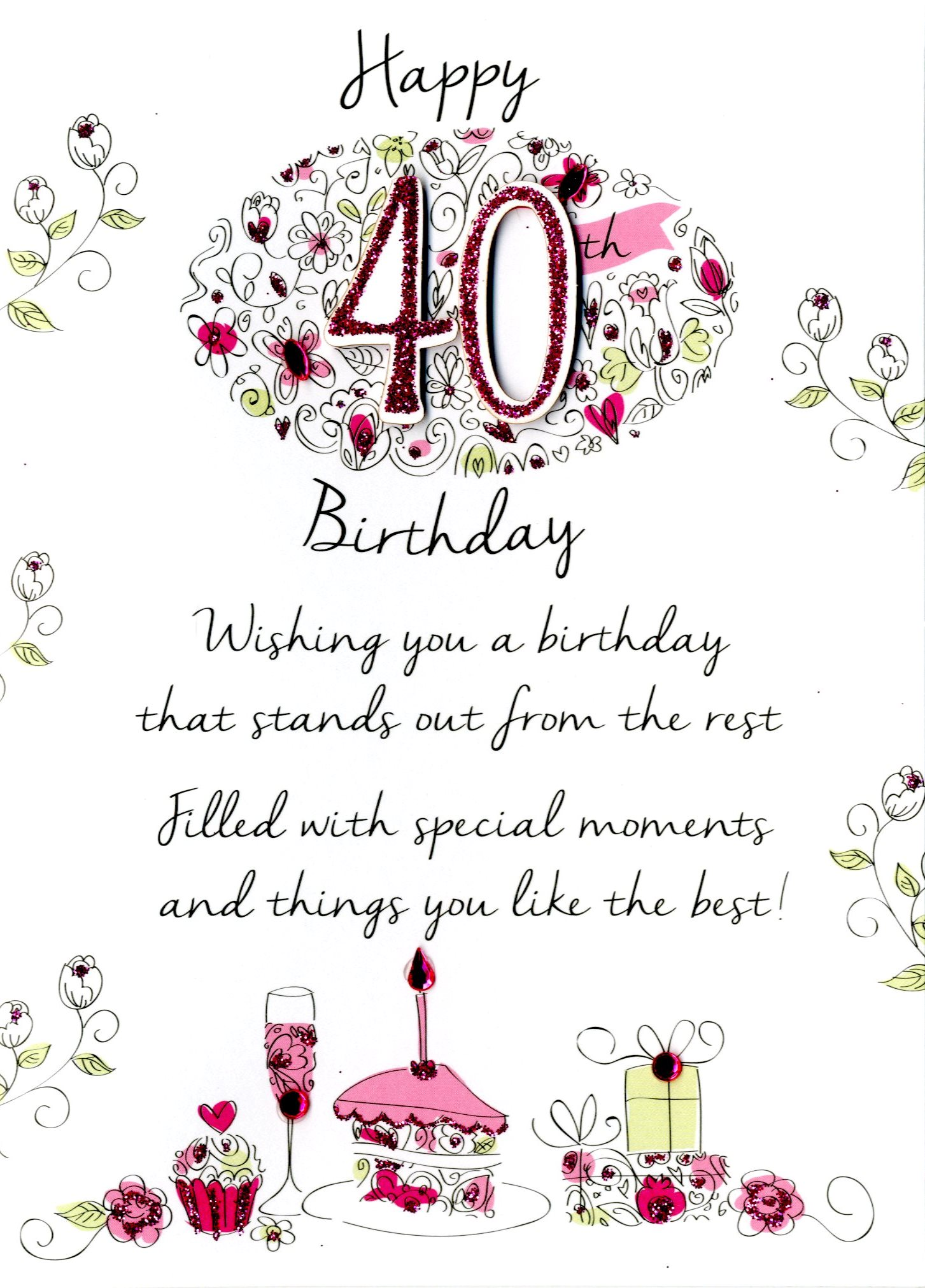 40th Bday Wishes