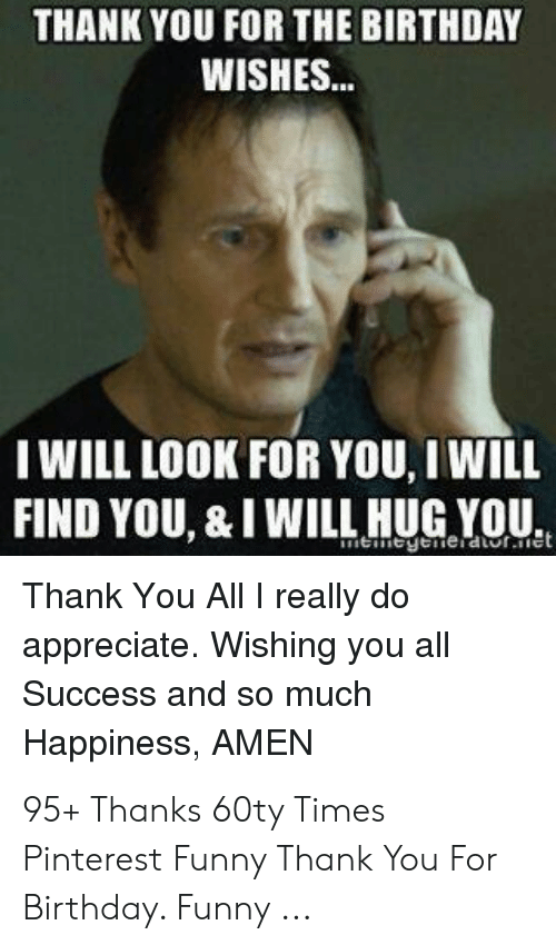 Funny Thank You Message For Birthday Wishes