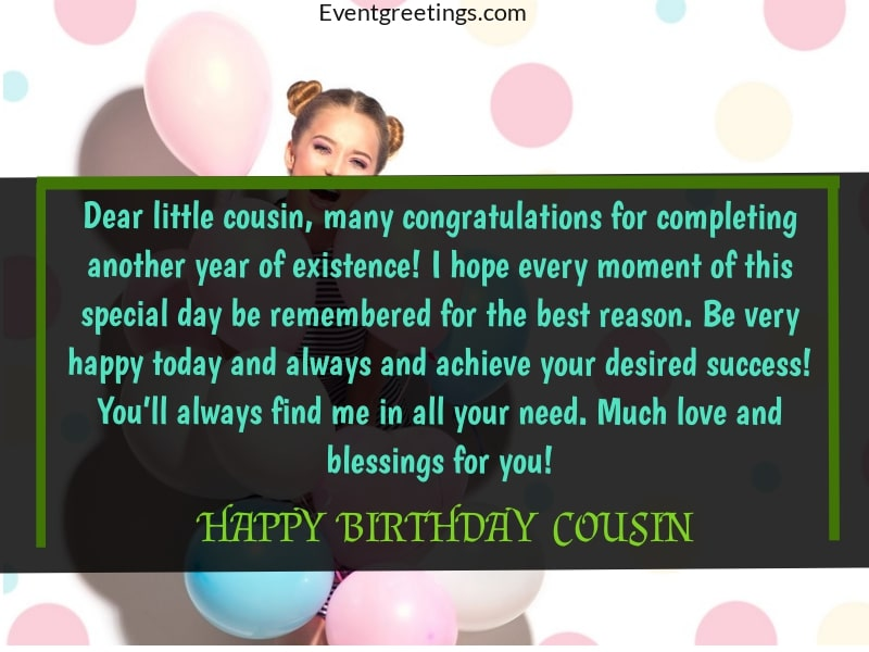 Birthday Wishes For Cousin Far Away