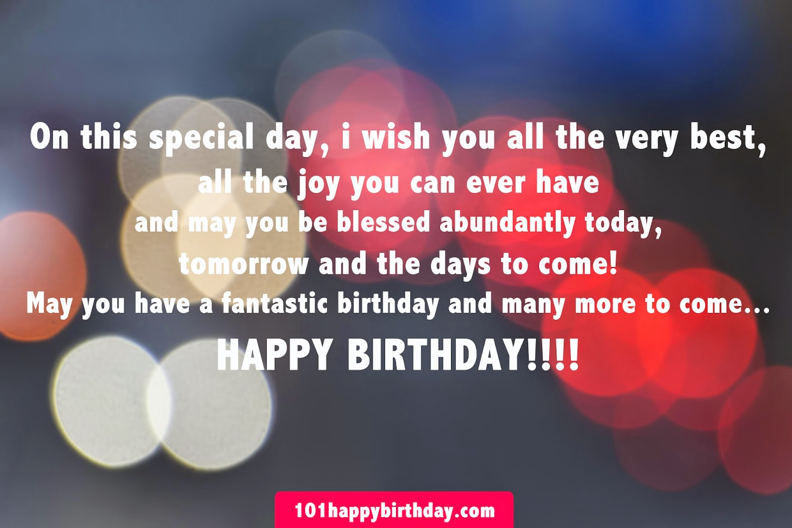 Wishing You Many More Birthdays To Come