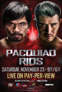 Pacquiao vs Rios Poster