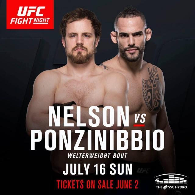 UFC Glasgow poster