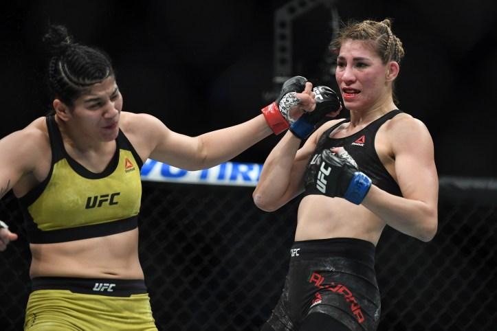 Irene Aldana proved too much on the feet for the limited power punching of Ketlen Vieira   Aldana vs Kunitskaya