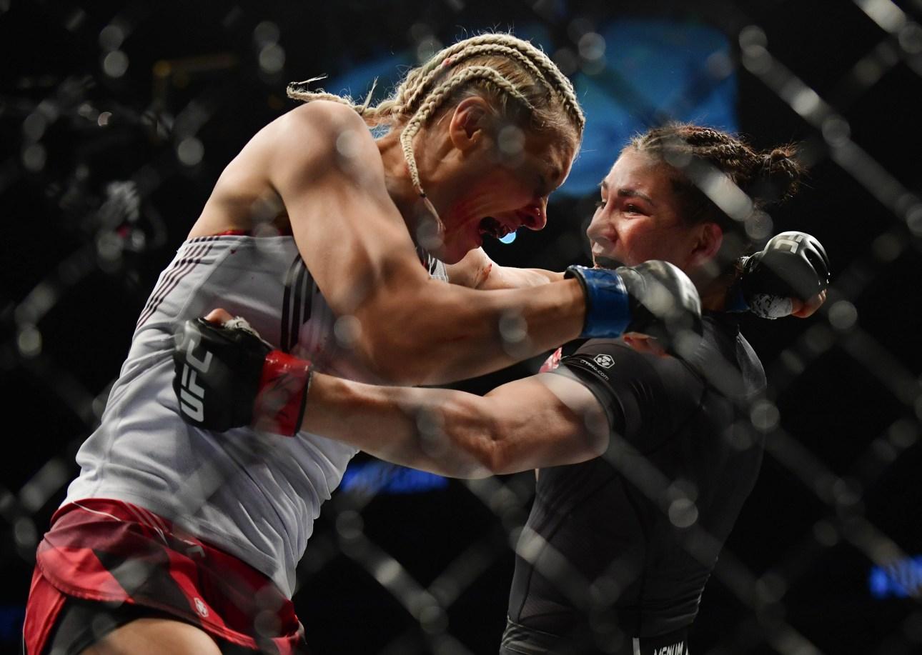 Yana Kunitskaya lost ahead of schedule to Irene Aldana at UFC 264