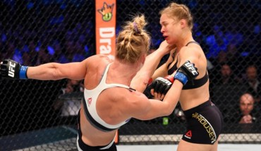 Rousey knocked out by holly holm.