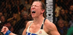 Miesha tate wins ufc bantamweight title against holly holm.