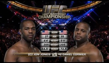 Jon Jones faces Daniel Cormier UFC 214.
