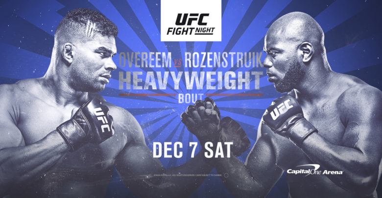 UFC Fight Night: Overeem vs Rozenstruik Live Stream